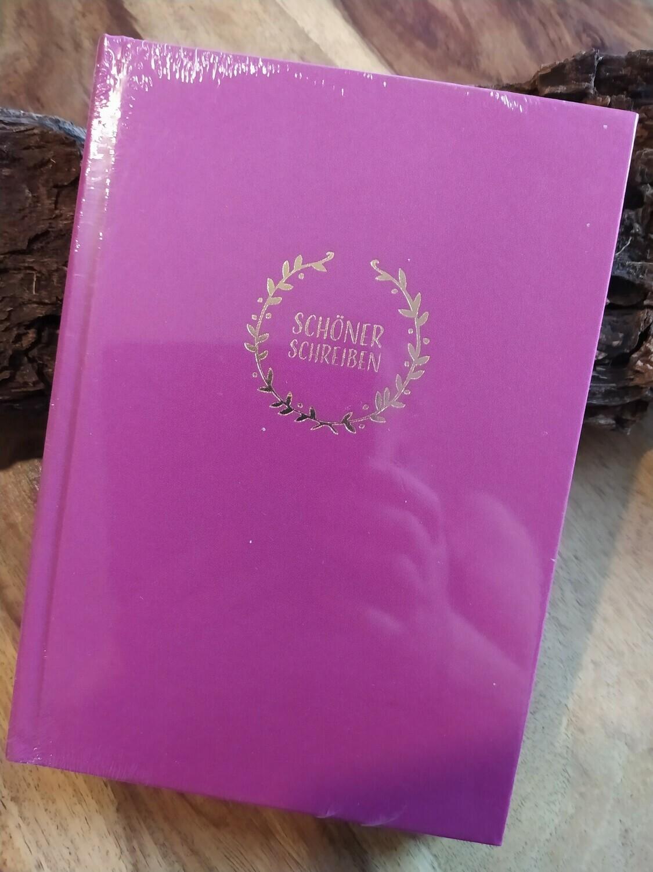 """Notizbuch """"Schöner Schreiben"""" - fuchsia"""