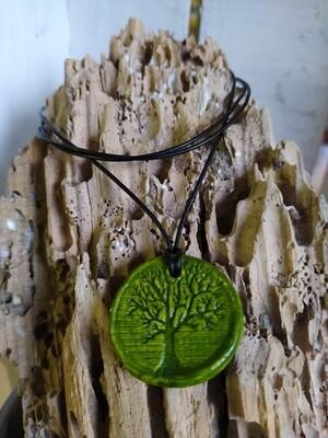 Kette - Lebensbaum - oliv
