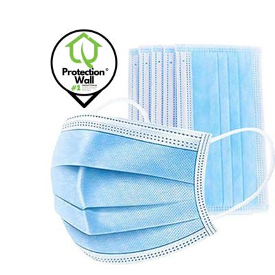 Einweg Mundschutz Atemschutzmaske Infektionsschutz Staubschutzmaske 3-Lagig Einheitsgrösse - Blau