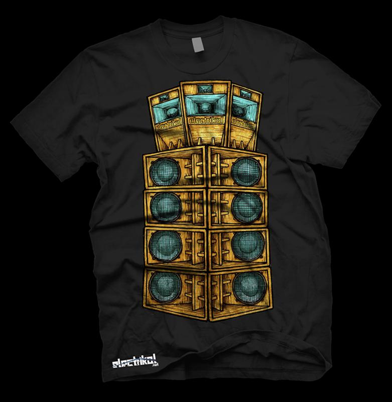 Tall Speaker Stack | T-shirt