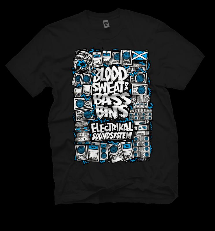 Blood & Bassbins | T-shirt