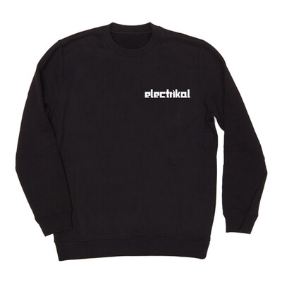Electrikal Embroidery Basic | Black | Crew Jumper