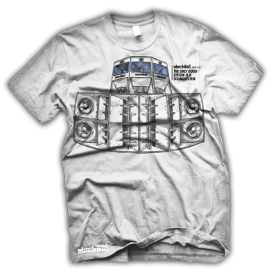 Wideboy Speakers | White | T-shirt