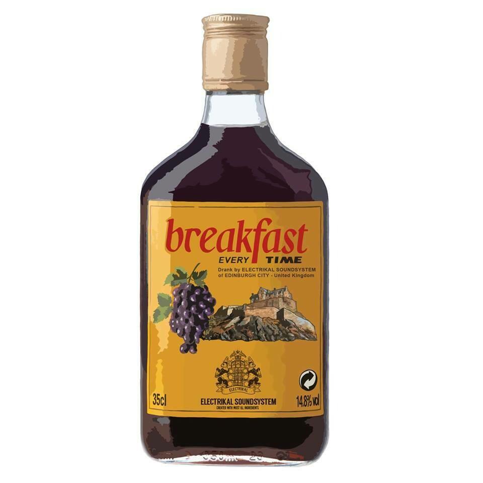 Breakfast Bucky Sticker