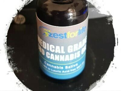 Zest CBD Cannabis oil 30ml.