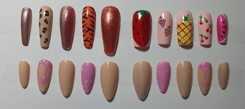 Custom Press On Nails - Freehand Art