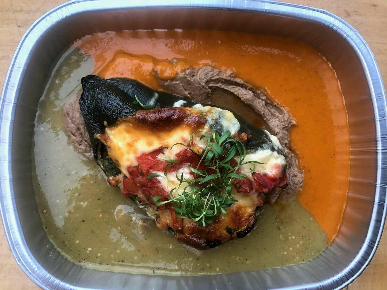 Chorizo Stuffed Poblano