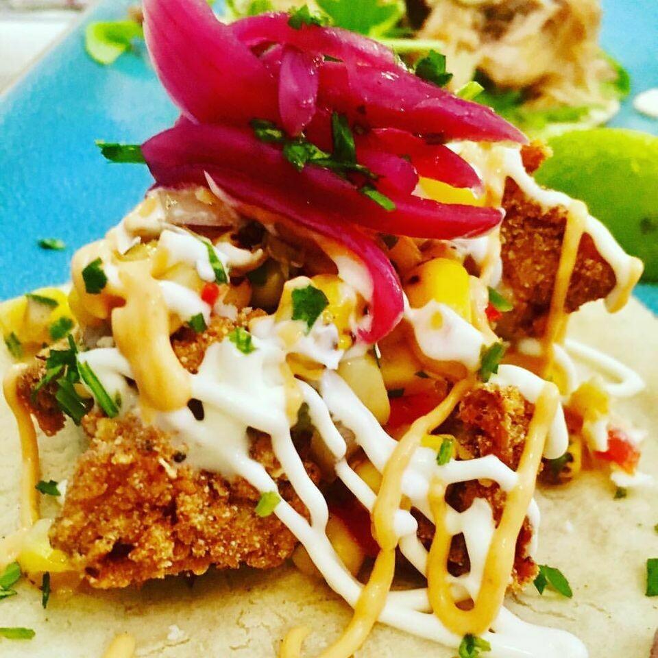 Spicy Fried Chicken Taco