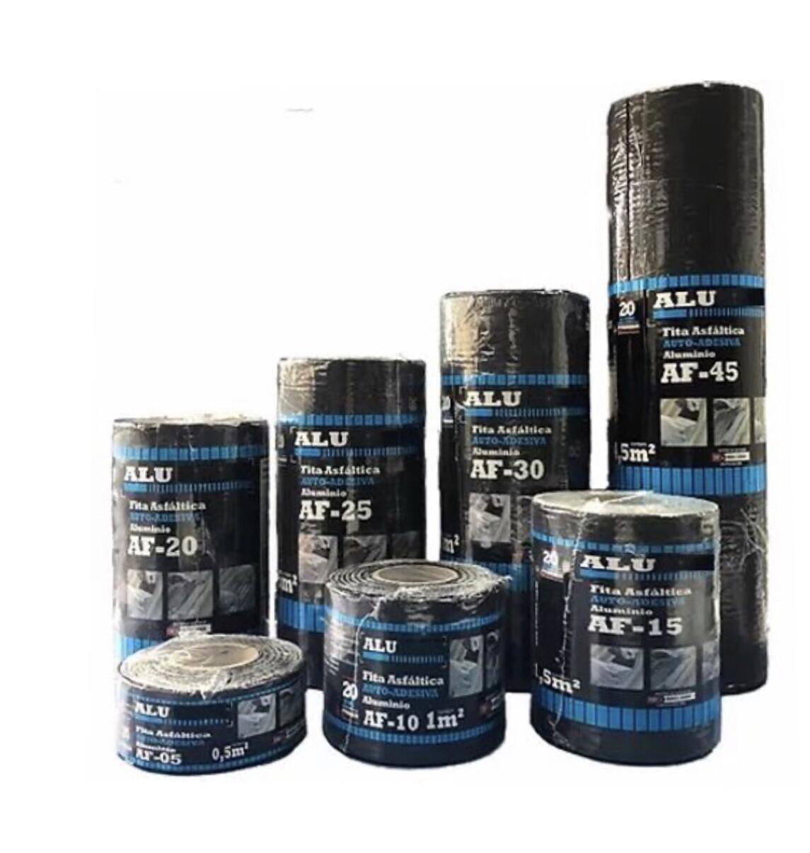 Fita Asfáltica Auto-Adesiva ALU/FLEX Cor Grafite 45cm x 10m x 1mm