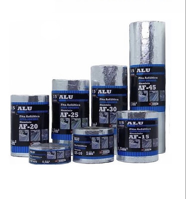 Fita Asfáltica Auto-Adesiva ALU/FLEX Natural 45cm x 10m x 1mm