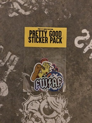 Pretty Good 4 Pack Stickers