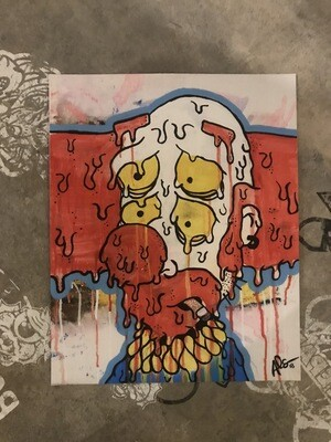 Melty Sad Clown Print