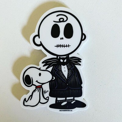 "Charlie Skellington 3"" Sticker"