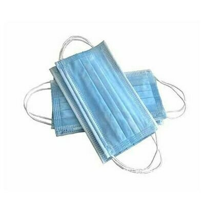3-Ply Disposable Face Mask - 50 PACK