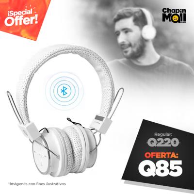 Audífonos Bluetooth BW15 con Radio FM y Lector MicroSD