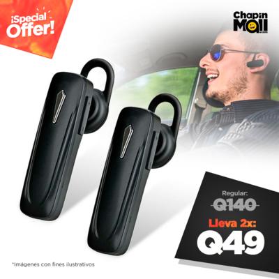 Combo: 2 Auriculares Manos Libres Bluetooth B5