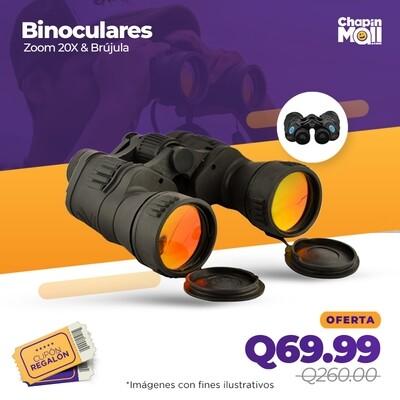 Binoculares Planet Cobra con Zoom 20X & Brújula