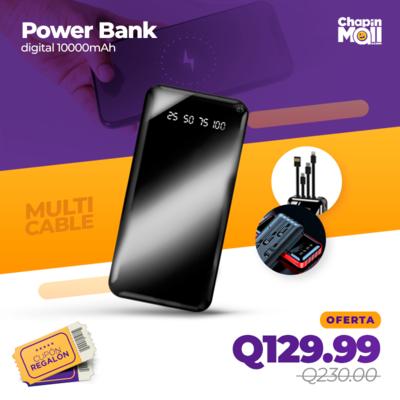 Power Bank con Pantalla Digital 10000mAh para Móviles