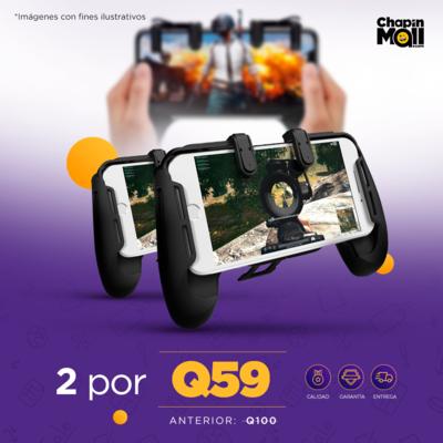 COMBO: 2 Controles Mobile con Gatillos para Videojuegos PG-91