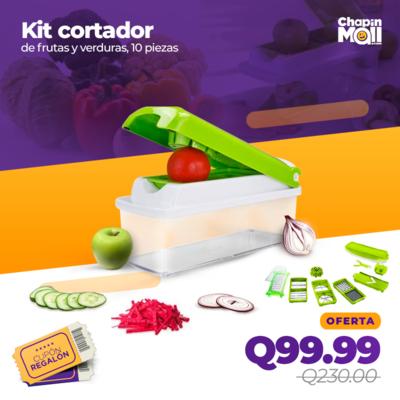 Kit de Cortadores para Frutas y Verduras de 10 Piezas