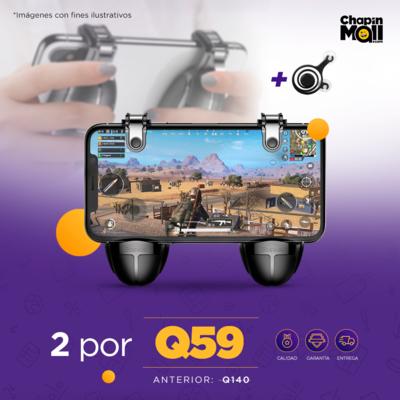 COMBO: Controles Mobile con Gatillos para Videojuegos L8