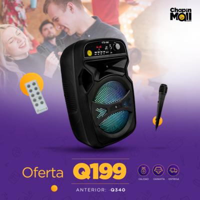 """Bocina Bluetooth Karaoke con Micrófono y Control 6.5"""""""