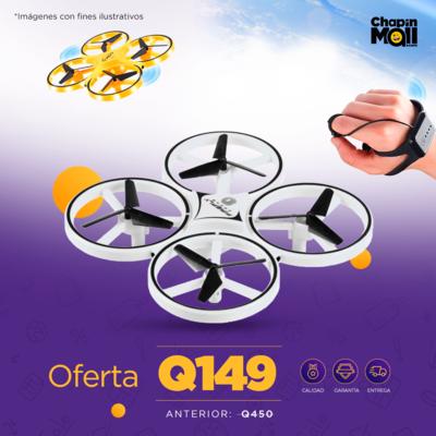Mini RC Drone 2.4GHz UAV Gravity con Control de Reloj