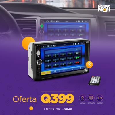 Reproductor MP5 de Audio Estéreo con Pantalla Touch para Carro
