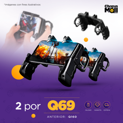 COMBO: Controles Mobile con Gatillos para Videojuegos K21