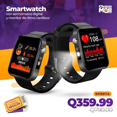 Smartwatch T68 con Termómetro y Control de Ritmo Cardíaco