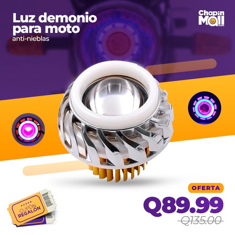 Faro de Luz LED Antiniebla para Motocicleta Tipo Demonio
