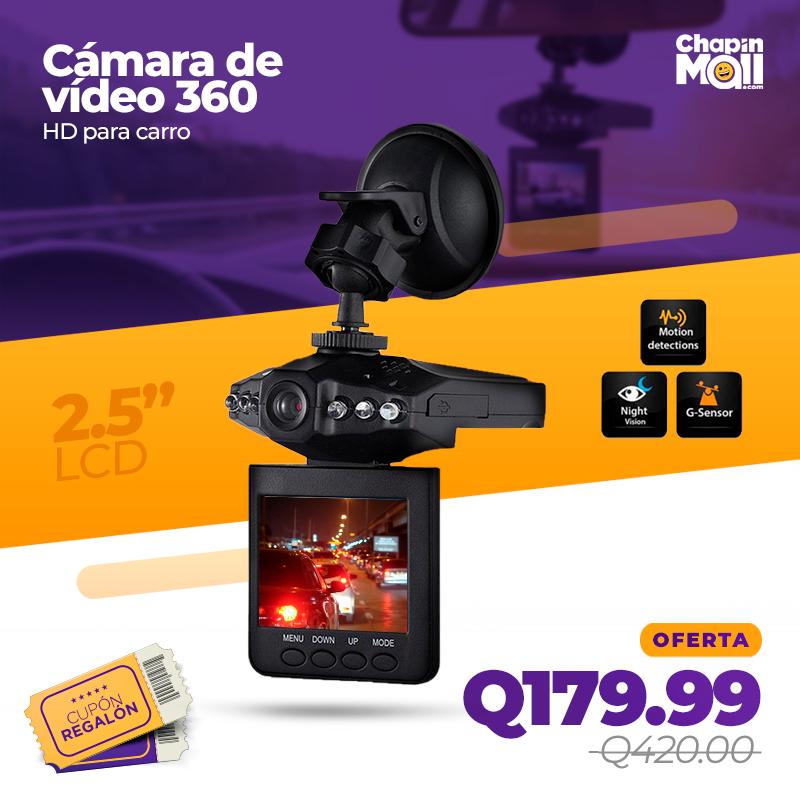 Cámara HD DVR para Carro 360 con Pantalla LED Giratoria
