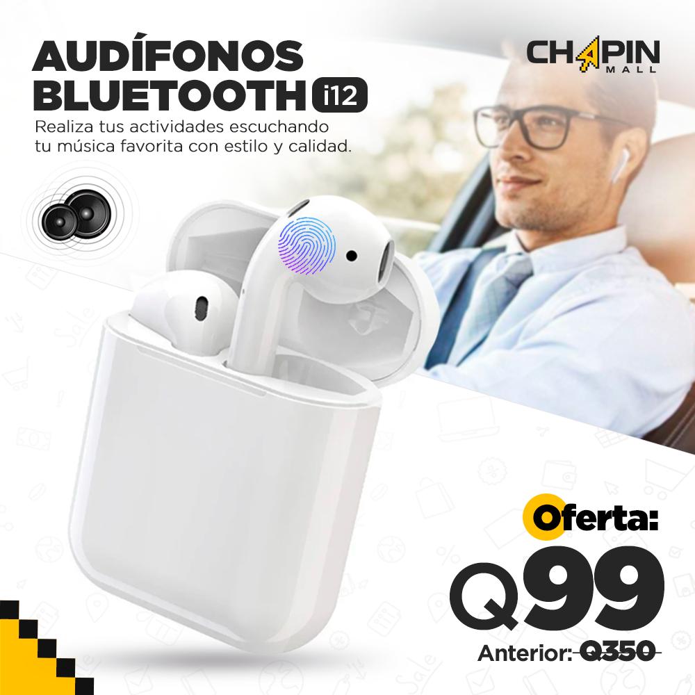 Audífonos Bluetooth i12 Pro con Base para Carga Extra