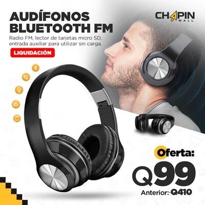 Audífonos Diadema Bluetooth con Slot Micro SD + Radio FM