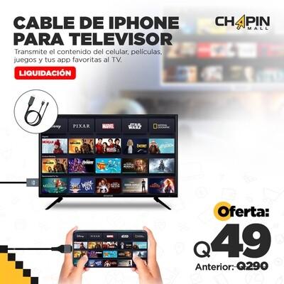 Cable HDMI Full HD 1080P para iPhone: Duplicar Pantalla en TV