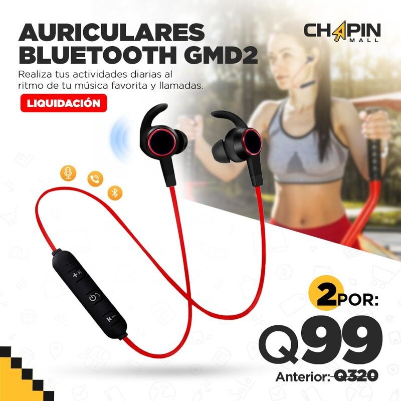 COMBO: 2 Auriculares Sport Bluetooth con Micrófono GM-D2