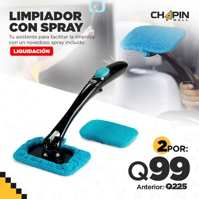 COMBO: 2 Limpia Parabrisas de Microfibra con Spray Integrado