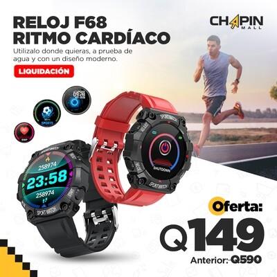 Smartwatch a Prueba de Agua con Sensor Ritmo Cardíaco F68