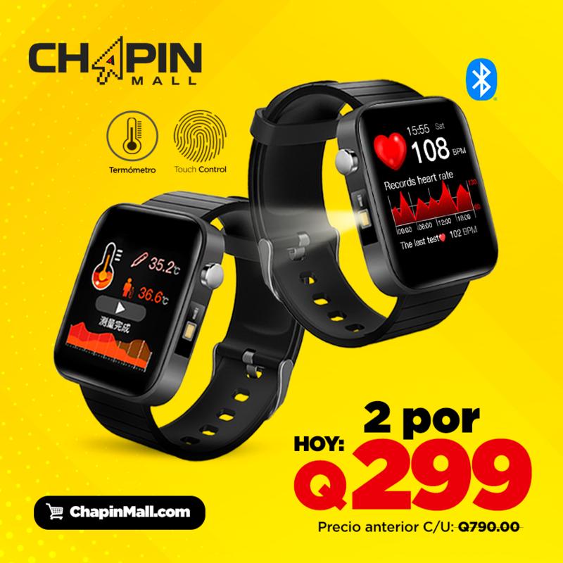 COMBO: 2 Smartwatches T68 Termómetro y Control de Ritmo Cardíaco