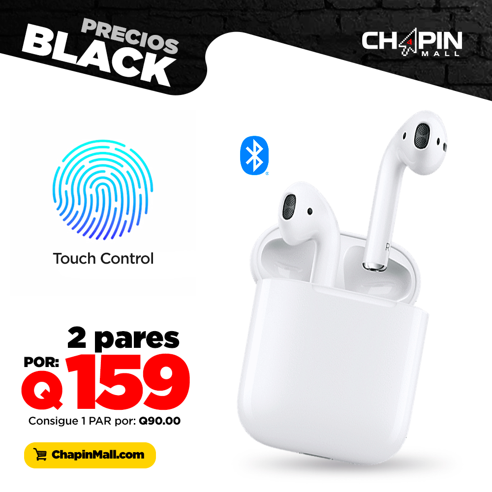 Dúo de Audífonos Bluetooth i12 Pro con Base para Carga