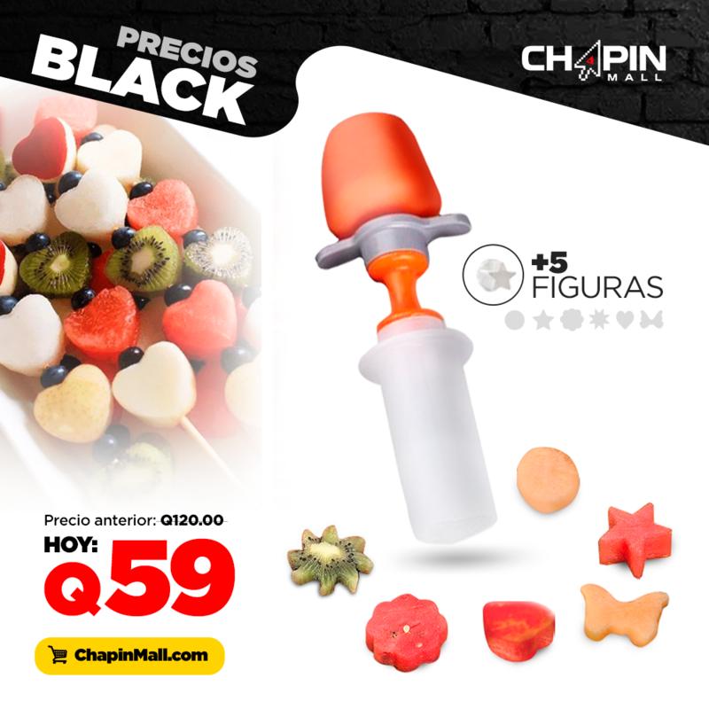 Cortador Divertido en Figuras para Frutas y Verduras Pop Chef