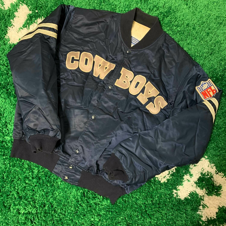 Dallas Cowboys Satin Starter Jacket 90's Size Large