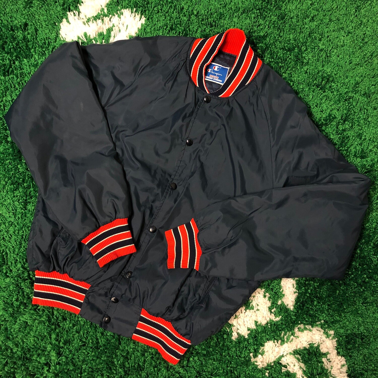 Champion Satin Jacket 90's Size Medium