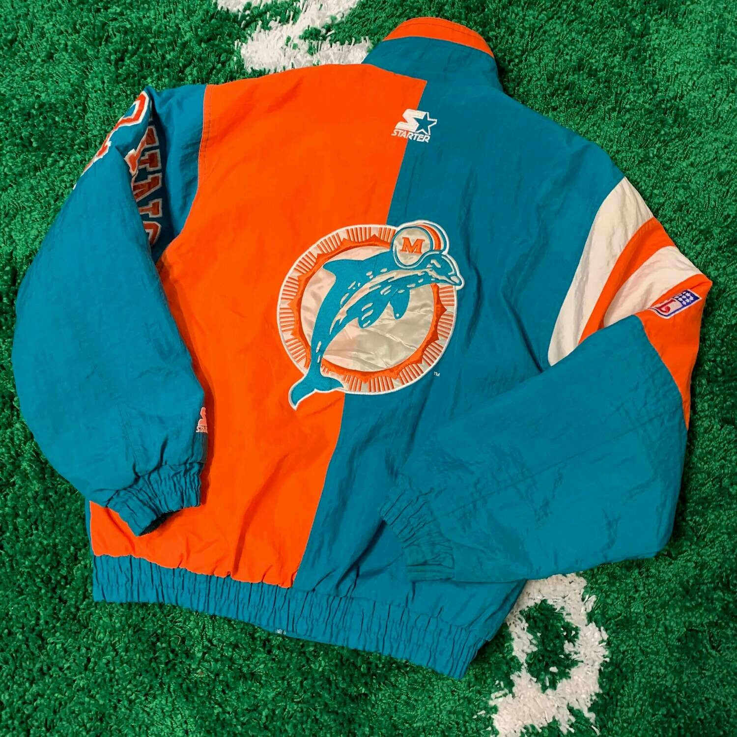 Miami Dolphins Starter Jacket 90's Size Small