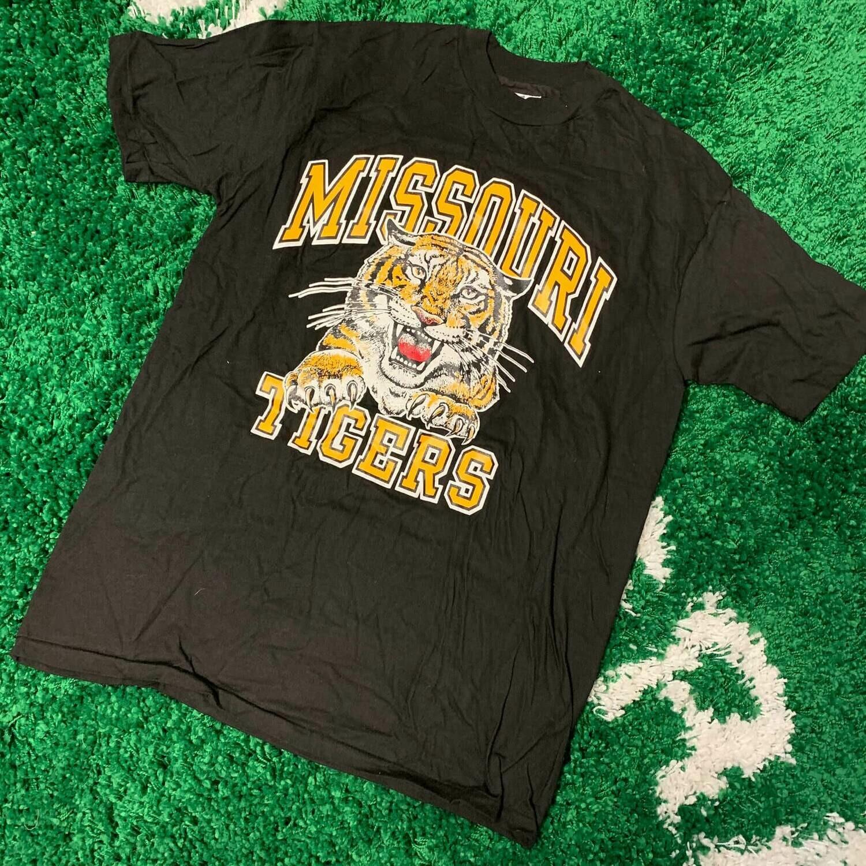 Missouri Tigers T-Shirt 80's Size Large