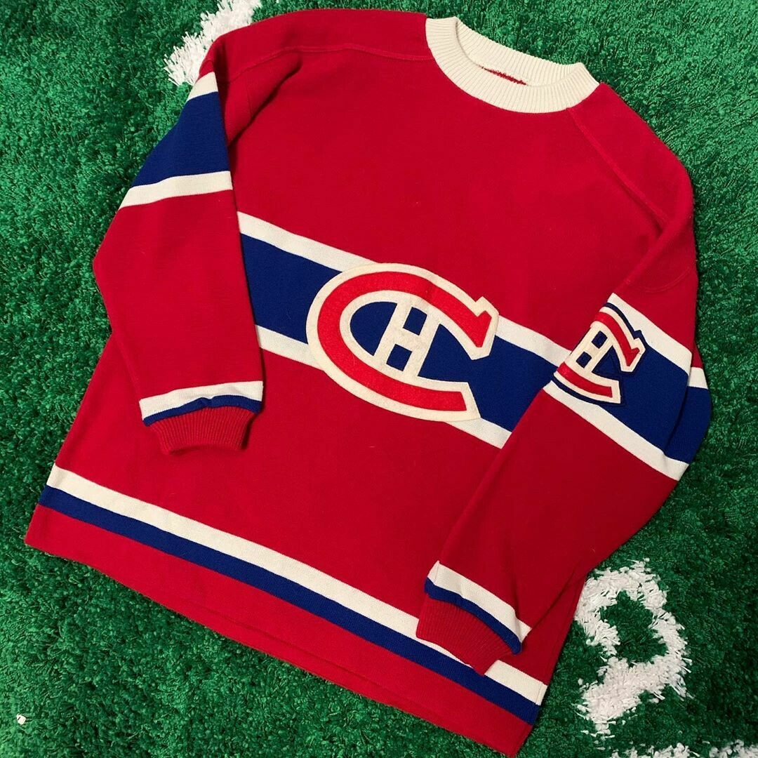 Montreal Canadiens Knit Jersey 90s Size XL