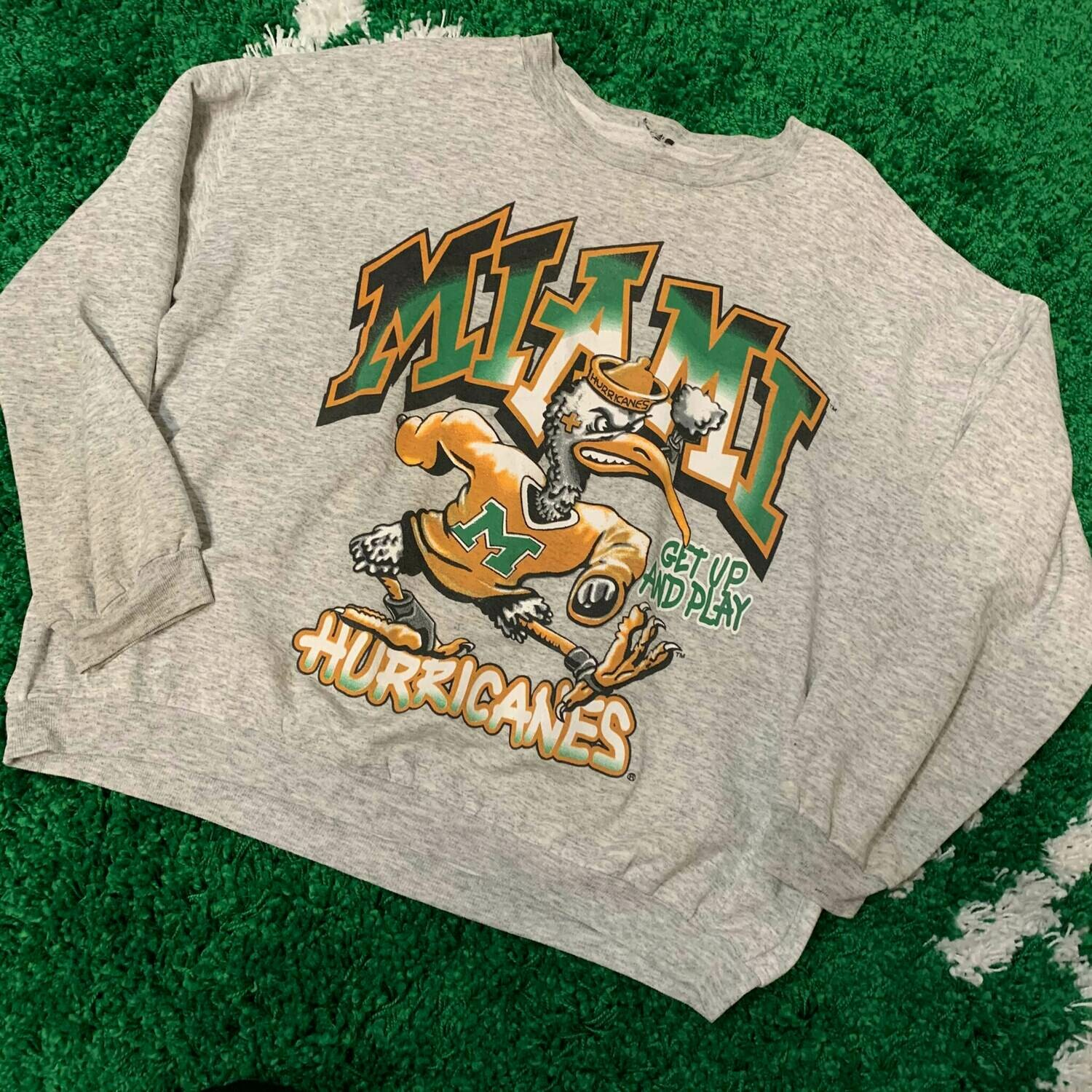 Miami Hurricanes Sweater 90's Size Large