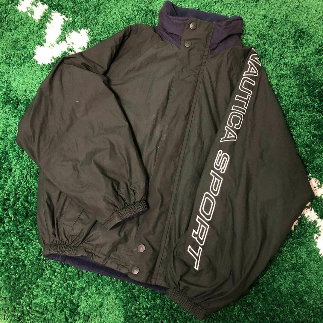 Nautica Sport Reversible Jacket 90s Size XL