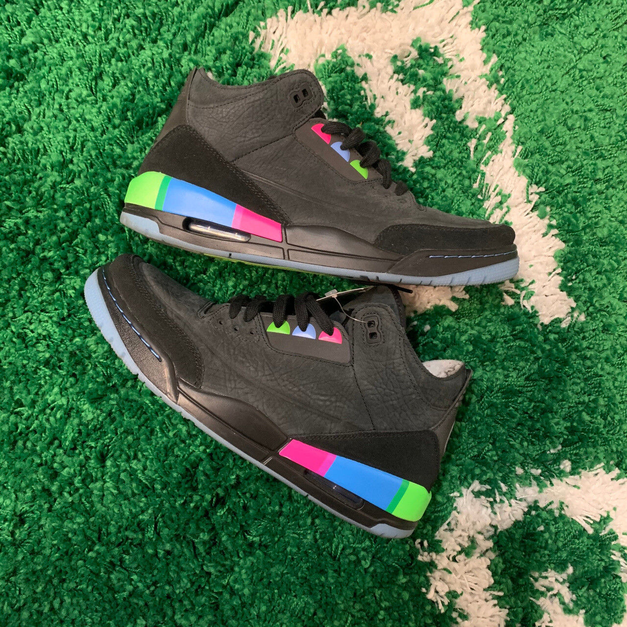 Nike Air Jordan 3 Quai Black Size 10.5