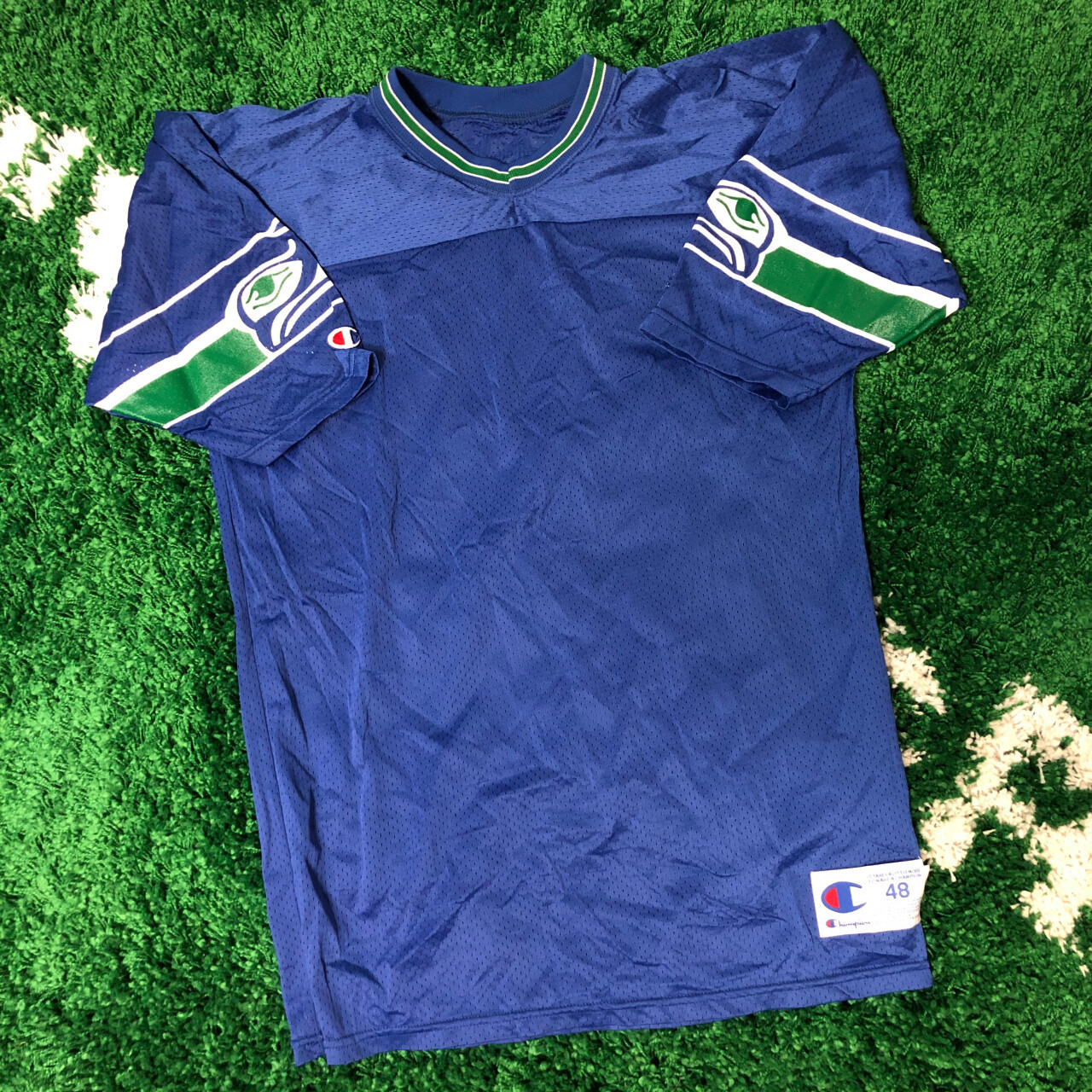 Seattle Seahawks Champion Jersey Blank 90's Size XL